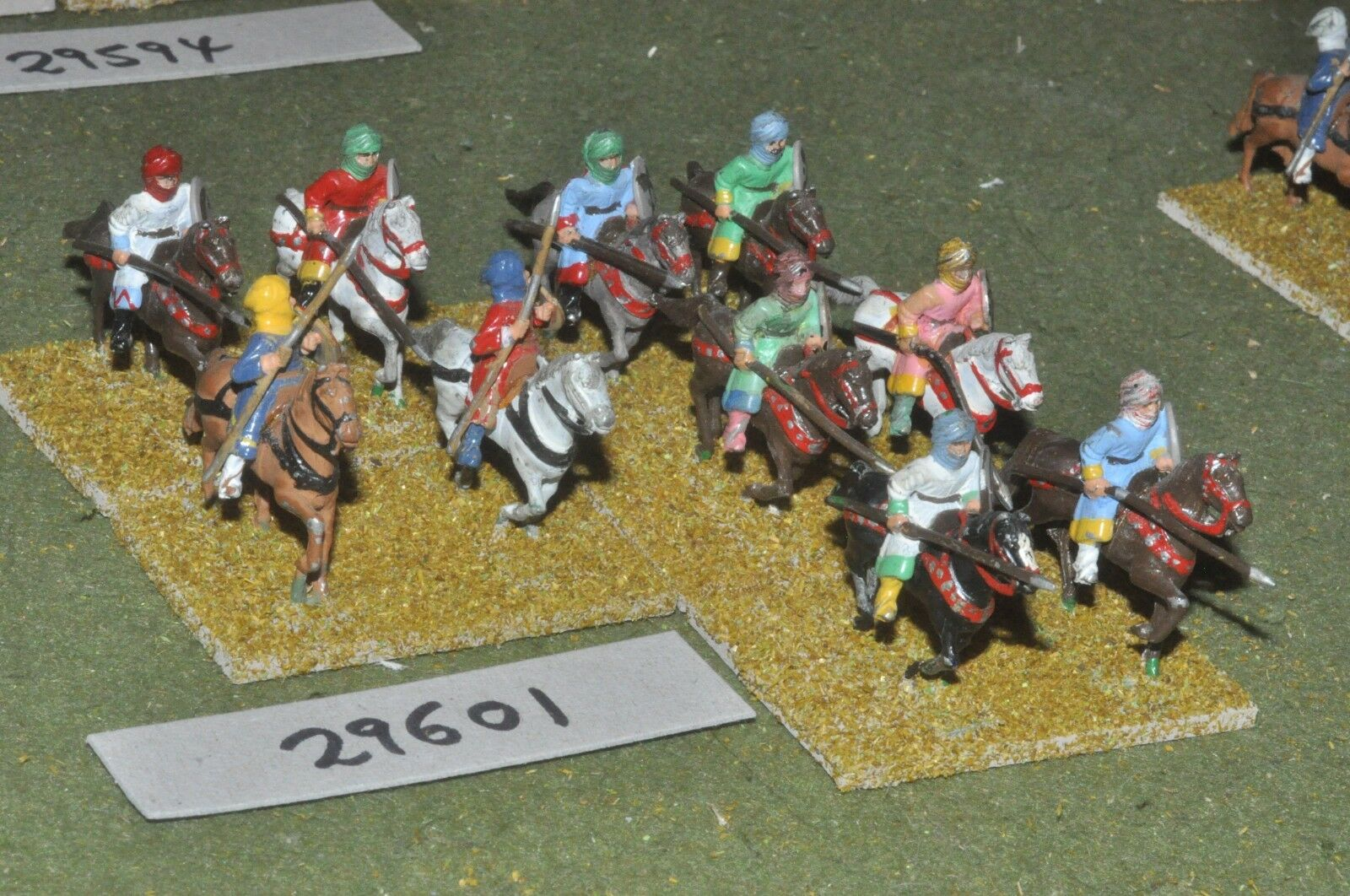 25mm medieval   saracen - light 10 figures - cav (29601)