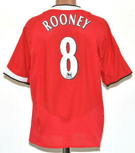 Manchester United 2004/2005/2006 Calcio Casa Maglietta Nike Rooney #8 XL adulto