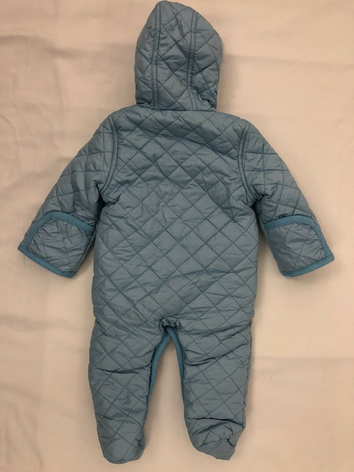 f3da5c117 Leveret SIZE 9 Months Blue Barn Quilted Baby Infant Coat Pram Snowsuit  Bunting
