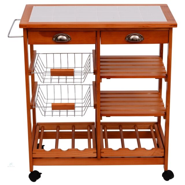 Wine storage table Console Table Kitchen Island Trolley Storage Table Wine Rack Metal Basket Wooden Counter Cart Ebay Ebay Kitchen Island Trolley Storage Table Wine Rack Metal Basket Wooden