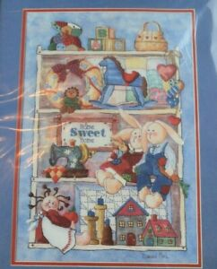 Details about Dimensions Crewel Embroidery Kit Country Treasures Bunny  SHIPS NEXT DAY!