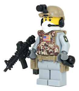 part WW2 US Army 101st Airborne Ranger Soldier Minifigure made with real LEGO R