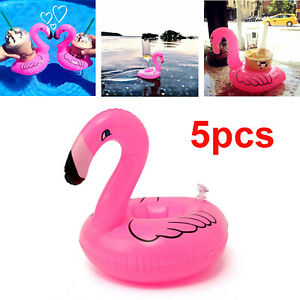 5-Inflatable-Flamingo-Drink-Cup-Can-Beer-Bottle-Holder-Pool-Party-Bath-Toy-Float