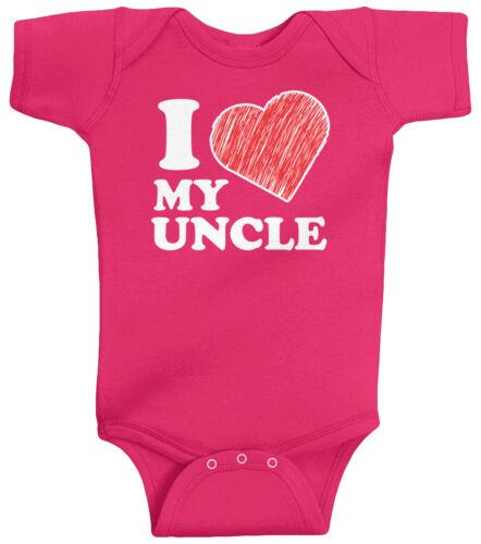 Threadrock Baby I Love My Uncle Infant Bodysuit Heart Family Tio Cute