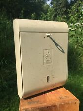 Vtg Thirsty Fibre Dispenser Scott Paper Metal Gas Station 1940s Display With Key