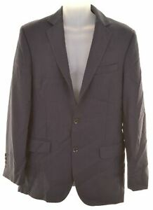 Austin Reed Mens 2 Button Blazer Jacket Size 38 Large Navy Blue Viscose Eg04 Ebay