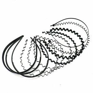 Unisex Black Girls Women Men Wave Waved Style Headbands Hairband Headband UK