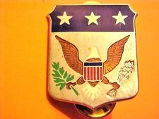 US Military Army War College DI DUI Pin Clutchback Crest Medal Badge G825