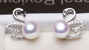 B07-Earring-Swan-Freshwater-Pearl-White-and-Zirconia-Silver-Plated