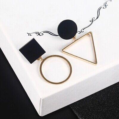 Punk Jewelry Geometric Dangle Drop Earrings Metal Statement Big Gold UK