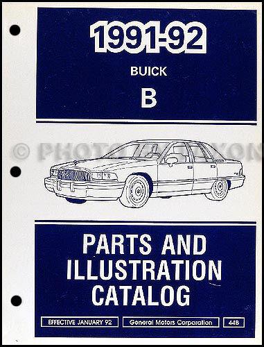 1991-1992 Buick Roadmaster Parts Book Illustrated Catalog Sedan and Estate Wagon
