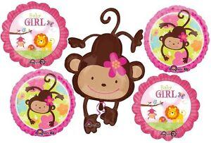 Bebe,Nina,Safari,Baby,Shower,Globos,Decoraciones,suministros,