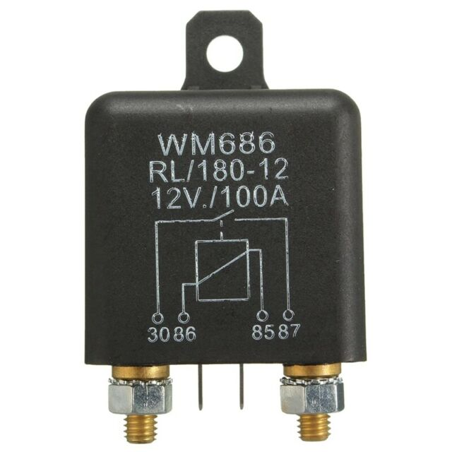 12v 100amp 4-pin Heavy Duty On//off Switch Split Charge Relay for Auto Boat F8q3 for sale online