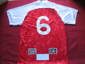 on sale 4dae8 e058c Details about ARSENAL GUNNERS LEGEND TONY ADAMS HAND SIGNED HOME SHIRT  JERSEY - PHOTO PROOF