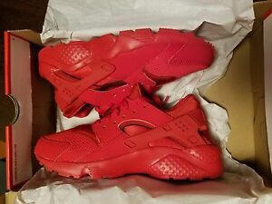 f9cbe54505232 Nike Air Huarache Run Triple All Red Varsity October Men youth Boys ...