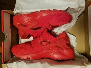 Nike Air Huarache Run Triple All Red Varsity October Men youth Boys ... fbe1b2e4517d