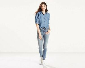 Women-s-New-Levi-s-721-Skinny-High-Rise-Stretch-Jeans-RRP-85