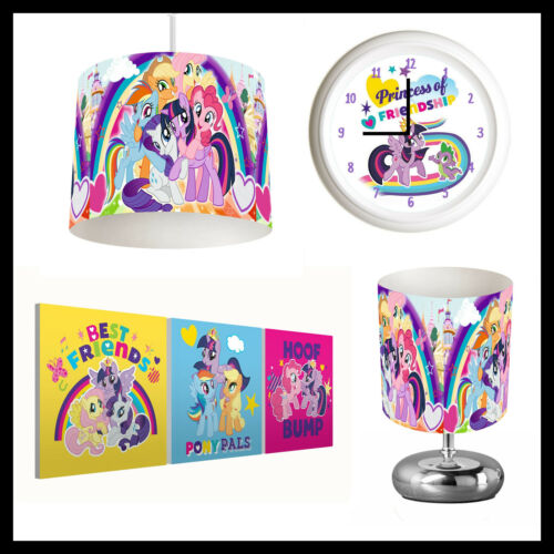 MY LITTLE PONY (495) - Girls Bedroom - Lampshade, Lamp, Clock & Pictures