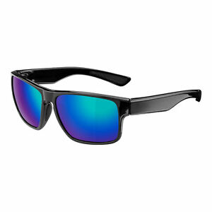 RockBros Cycling Polarized Full Frame Sunglasses Goggles Black Blue Glasses
