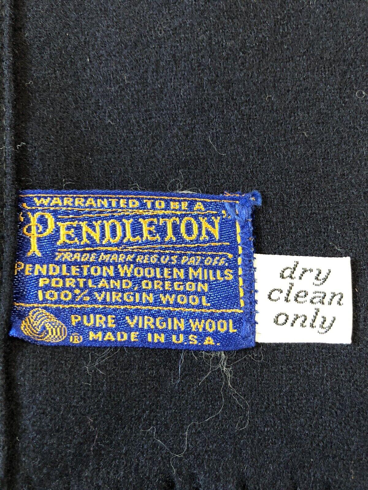 Mens Navy Pendleton Wool Scarf - image 3