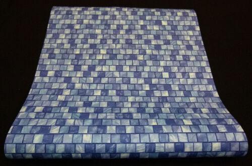 """42103-10-5 moderne Vliestapete /""""Origin Glasfliesen/"""" blau mit Glanz-Effekt"""