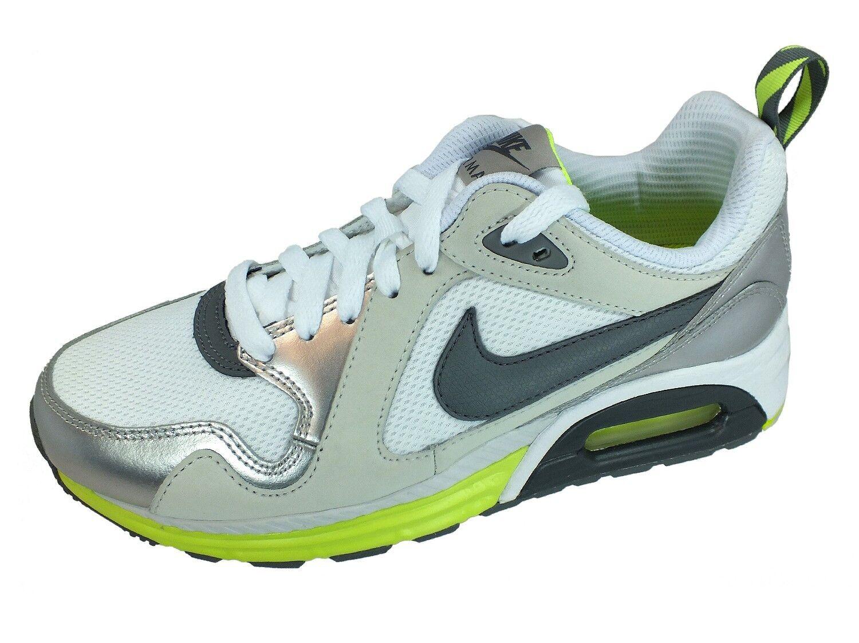 Nike AIR MAX TRAX Turnschuhe 631763 Weiss Silber 100 Sportschuhe
