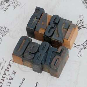 0-9-Zahlen-Mix-Holzlettern-Lettern-Holzzahlen-Zahl-Vintage-Stempel-wood-type