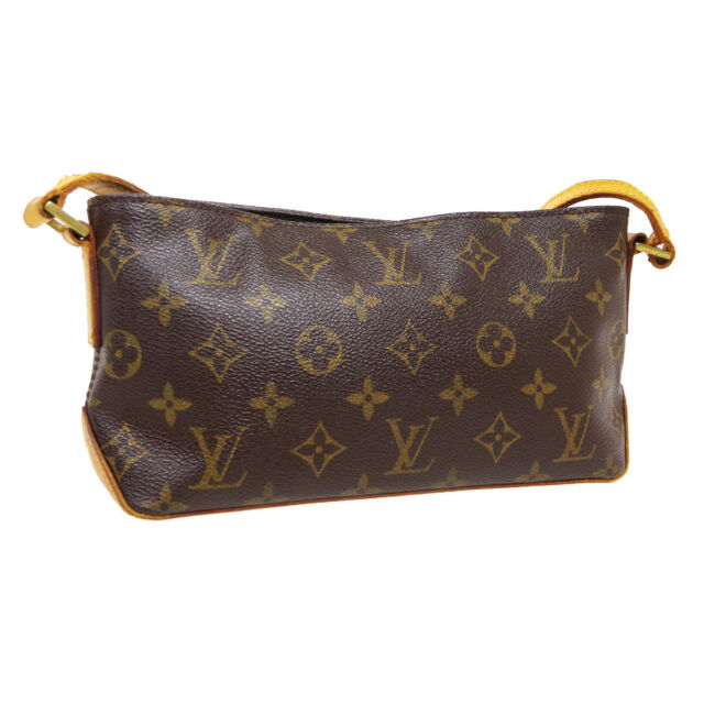 LOUIS VUITTON TROTTEUR CROSS BODY SHOULDER BAG AR0012 MONOGRAM M51240 A53959