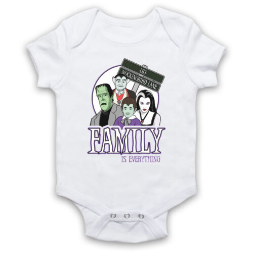 FAMILY IS EVERYTHING THE MUNSTERS UNOFFICIAL TV COMEDY BABY GROW BABYGROW GIFT