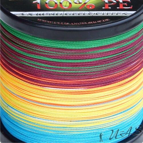 DELTEX Titan Ultra Multicolor 0,10mm 6.10kg 500M Rund Geflochtene Angelschnur