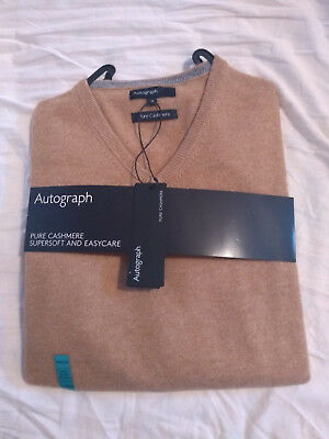Autograph BNWT Gents Cashmere 100/% Size  XXL V Neck Pale Blue