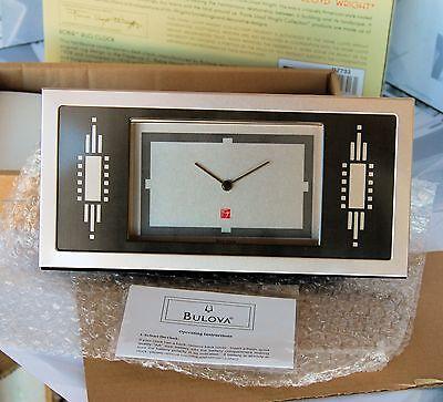 Nuova Moda Orologio Di Design Da Arredo By Bulova Per Frank Lloyd Wright Collection Nuovo. Materiali Di Alta Qualità Al 100%