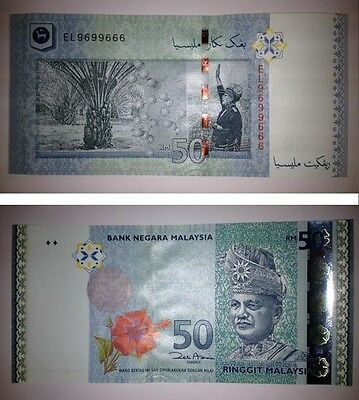 P50 ZE Replacement Banknote 2009 UNC Malaysia 50 Ringgit