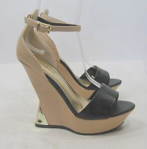 "DOLCE VITA ""ISABEL"" DRAMATIC SUEDE OPEN TOE SCULPTED BLACK PUMPS 9.5  0"