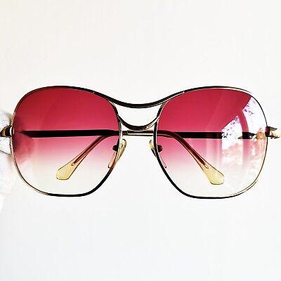 Utile Occhiali Da Sole Marcolin Sunglasses Oversize Big Square Gold Vintage Rare Red Colori Fantasiosi