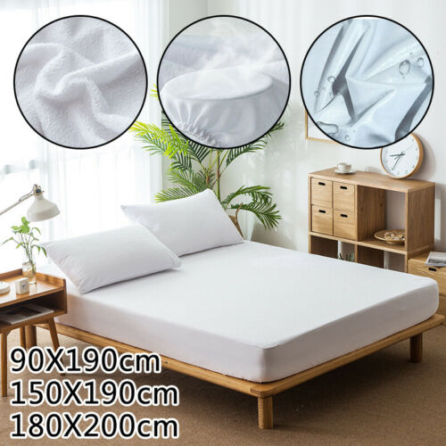 Bed Sheet Cover Waterproof Dust Mattress Protector Bedspread Non-Slip Pillowcase