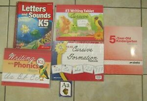 Abeka-K5-Lot-Kindergarten-Home-School-Books-Curriculum-Cursive-Formation