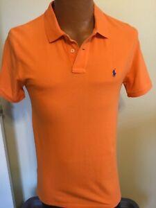 Polo-Ralph-Lauren-Boys-XL-18-20-Orange-Cotton-Short-Sleeve-Polo