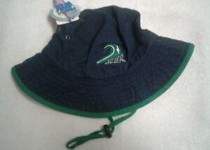 Dozer Boys Bucket Echo Green Reversible Beach Sun Hat UPF 50 5-9 Years Old