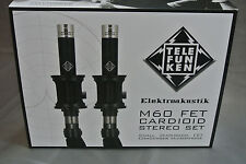 Telefunken M60 small capsule fet condenser microphone   cardioid   (stereo set)