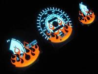 96-00 Honda Civic Dx Automatic At Transmission Flamed White Face Glow Gauges Kit