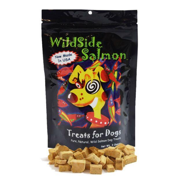 WildSide Wild Alaskan Freeze Dried Salmon USA Dog Training Treats 3oz