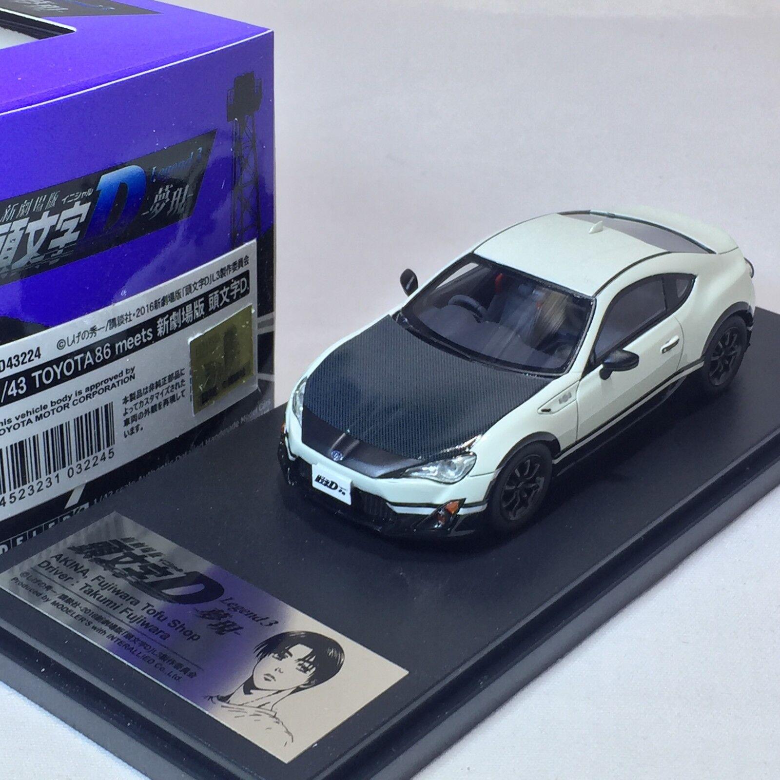 1 43 Hi-Story Modeler's Toyota 86 Fujiwara Tofu Shop Legend 3 initial D MD43224