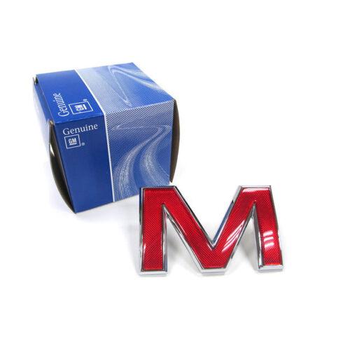 "OEM NEW 1991-12 GM GMC Front Grille /""M/"" Emblem Badge Red w// Chrome Trim 15634641"
