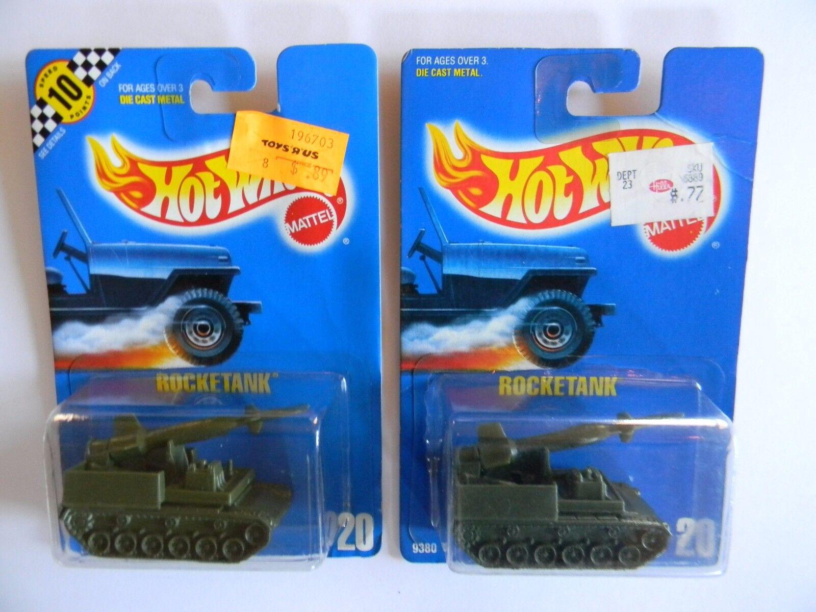 Par-RARE-Tanque de cohetes-Tarjeta Azul  20 - hot Wheels-Original-Muy difícil de encontrar variaciones