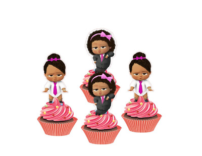 Boss Baby logo cupcake toppers
