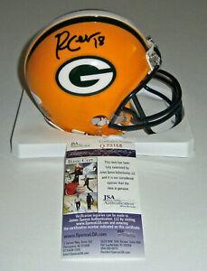 PACKERS-Randall-Cobb-signed-mini-helmet-w-18-JSA-COA-AUTO-Autographed-Green-Ba
