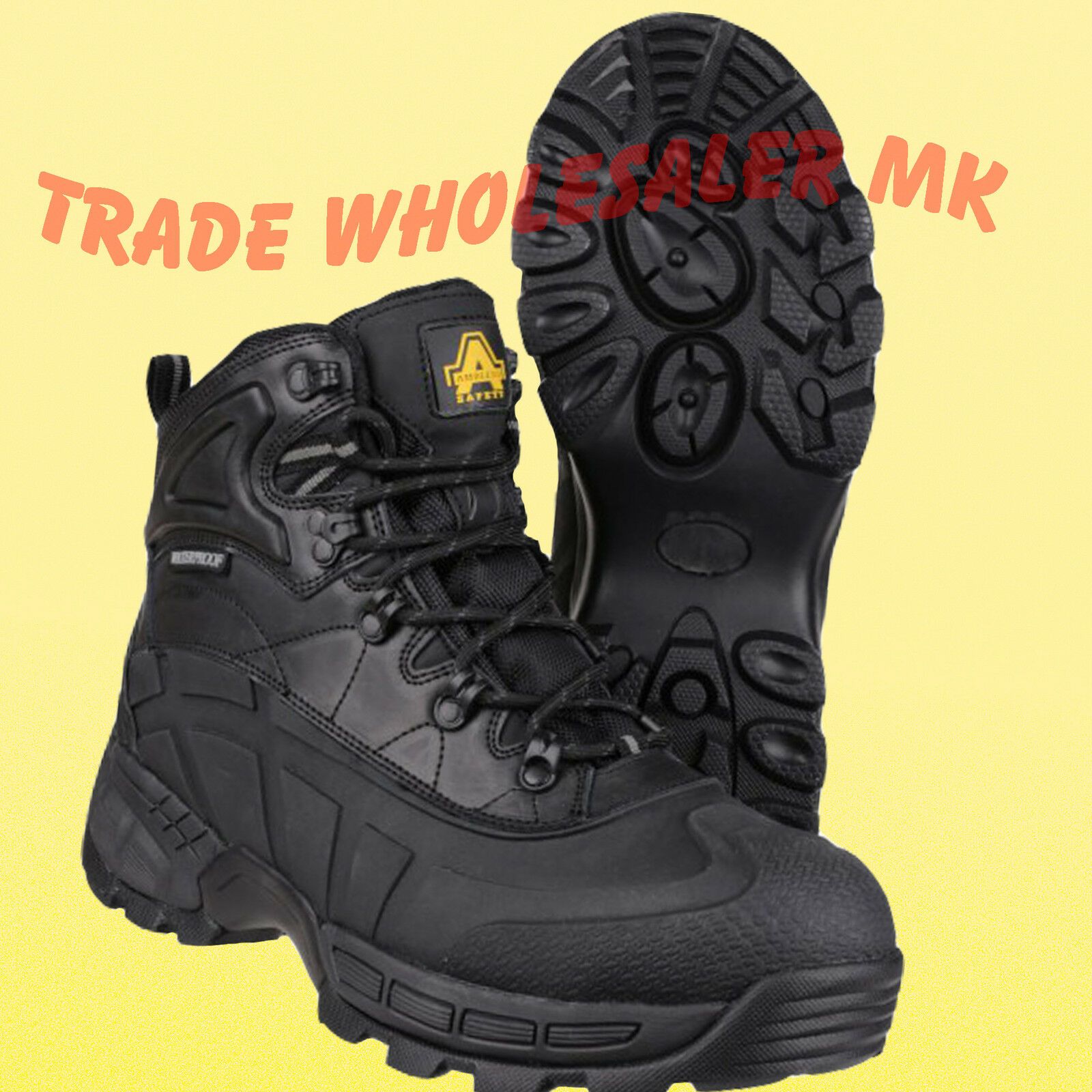 WATERPROOF SAFETY BOOTS ORCA WORK BOOTS SAFETY TOE CAP AMBLERS FS430
