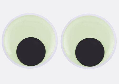 2pc Googly 6-inch Stickyback /'Glow in the Dark/' Wiggle Eyes Crafts//Halloween
