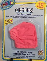 Webkinz Pet Clothing Pink Baggy Jeans W/code By Ganz Fits Most Webkinz Pets